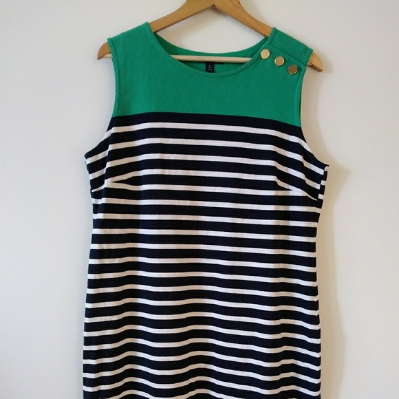 fc0dededf2b Lands  End Dresses   Skirts - Women s Land s End green nautical dress.